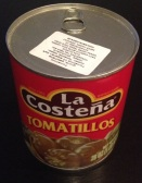Tin of tomatillos