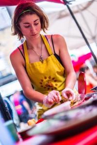 Ruth in action at Camden Lock Market