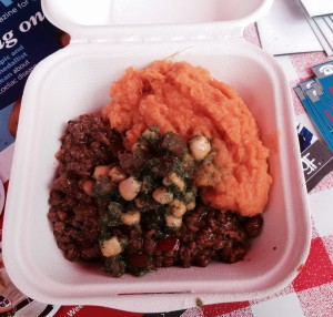 The famous chilli & sweet potato mash!